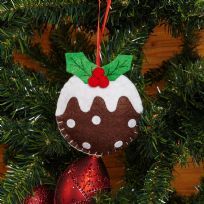 Christmas Pudding Felt Tree Decoration